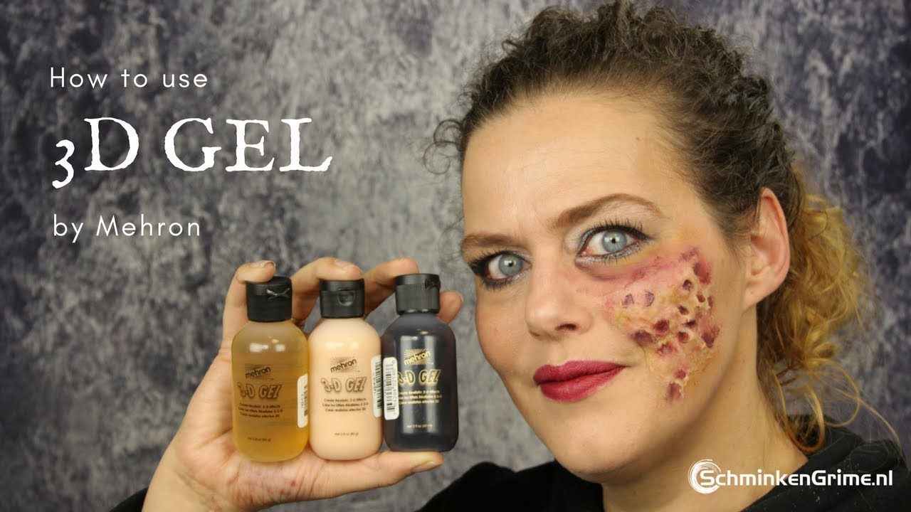 How to use Mehron 3D Gel