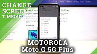 كيفية تغيير مهلة الشاشة في Motorola Moto G 5G Plus - إعداد وقت سكون الشاشة