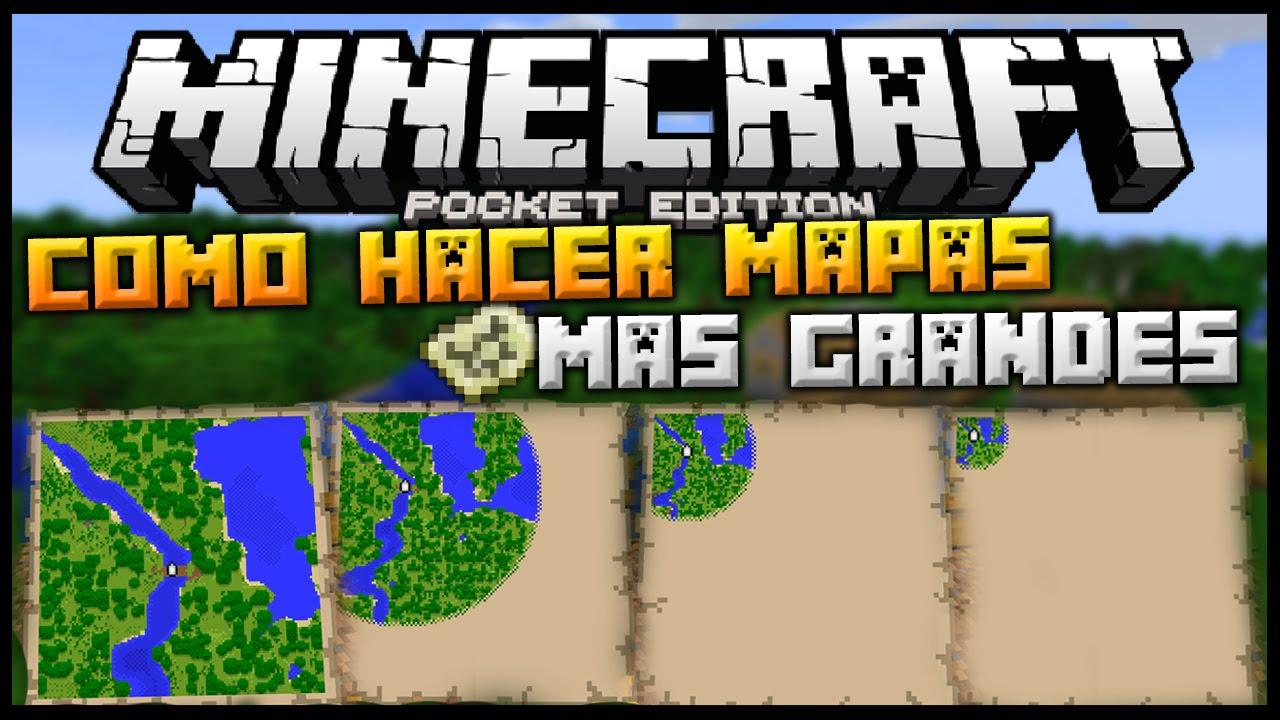 Como Hacer Mapas Mas Grandes Aumentar Su Rango Minecraft Pe 0 14 0 Pocket Edition Youtube