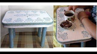 як зробити столик з картону