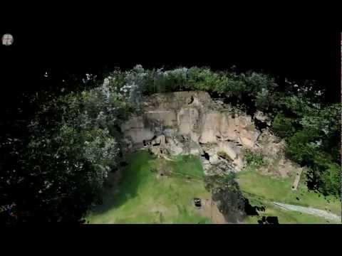3D LIDAR Animation of a ancient roman quarry
