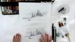 Академическая штриховка карандашом. Уроки рисования.
