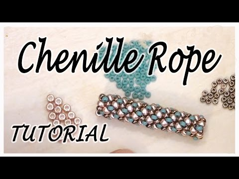 BeadsFriends: Tubular beadwork tutorial (Chenille Stitch) - A simple idea for a tubular beadwork