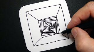 Special Spiral Drawing - Amazing Abstract Art - Relaxing Optical Illusion - Draw #WithMe