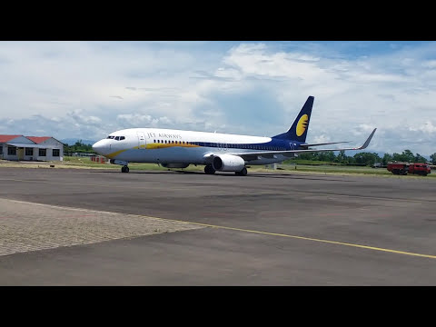 First time Jet airways at silchar airport