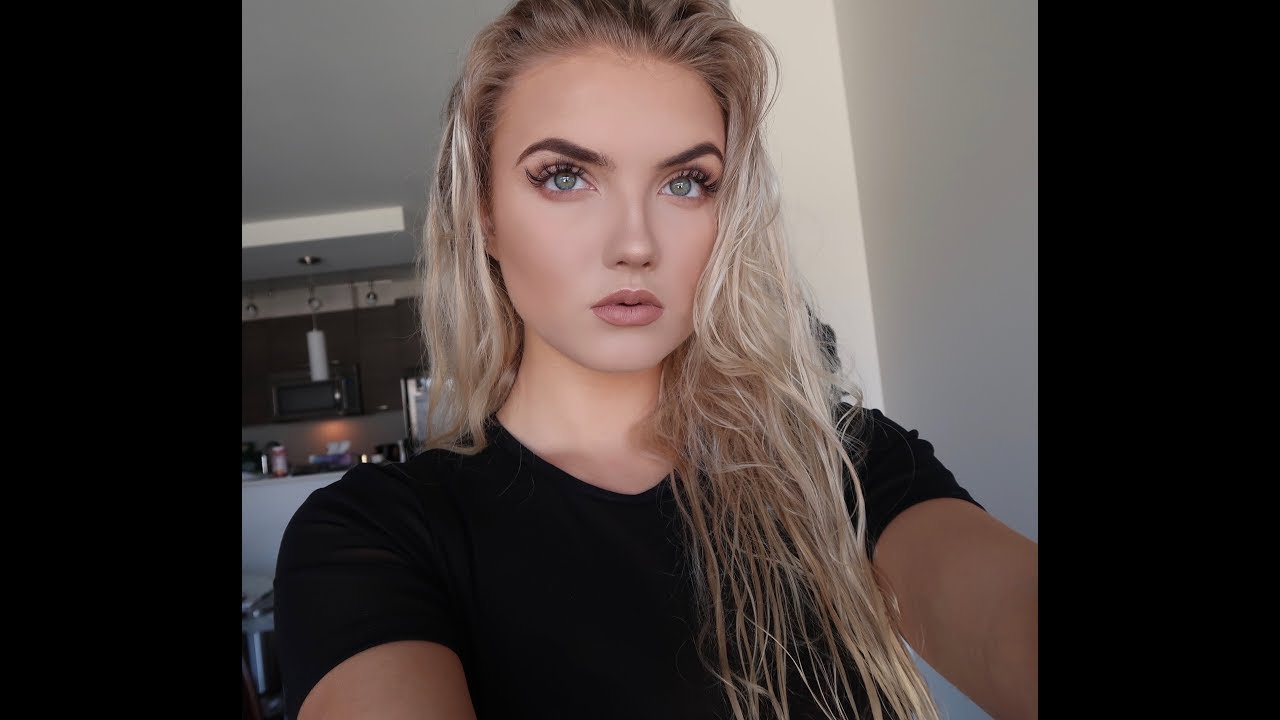 GRWM~ How I do my makeup with lash extensions   Janelle Clarke