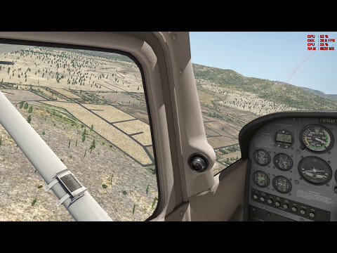 X Plane 11 SoCal Tour L35 (Big Bear) to KTNP (Twentynine Palms) Ortho4XP Ultra Realistic Scenery