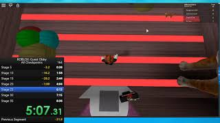Roblox: Guest Obby (All Checkpoints) in 7:34.93 [PB]