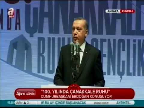"""15 Mart 2015 Cumhurbaşkanı Erdoğan """"100. yılında Çanakkale Ruhu"""" Programında"""