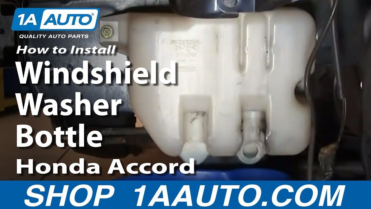How To Install Repair Replace Windshield Washer Bottle Honda Accord 98 02 1aauto Com Youtube