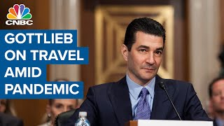"""Dr. scott gottlieb, former fda commissioner, joins """"closing bell"""" to talk about safe travel in the age of coronavirus. if states that are experiencing flare-..."""
