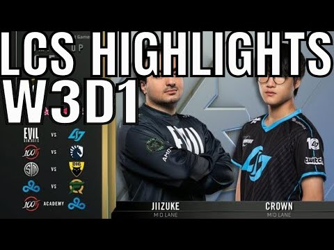 LCS Highlights ALL GAMES Week 3 Day 1 Spring 2020 League of Legends Championship Series