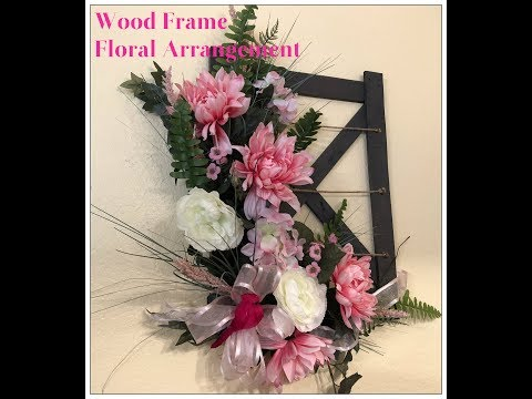 Tricia's Creations: Floral Wall Decor: Wood Frame Floral Arrangement