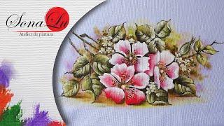 Rosas Silvestres em Tecido – Sonalupinturas