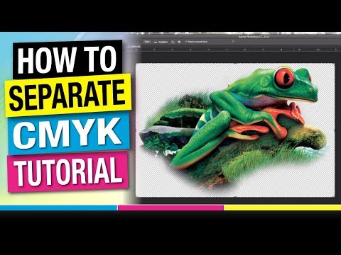 How to Separate CMYK 4 Color Process For Screen Printing