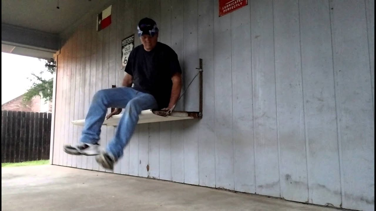 DIY Tailgate wall bench for back porch . 1 of 3 - YouTube