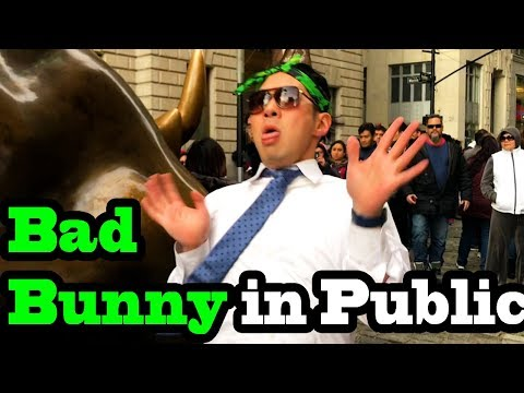SINGING IN PUBLIC - BAD BUNNY