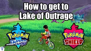 POKEMON SWORD AND SHIELD - How to get to Lake of Outrage (Home of Dreepy, Ditto, & Strong Pokemon)