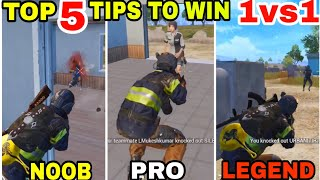 TOP 5 TIPS AND TRICKS TO WIN 1vs1 IN PUBG MOBILE • PUBG MOBILE TIPS AND TRICKS