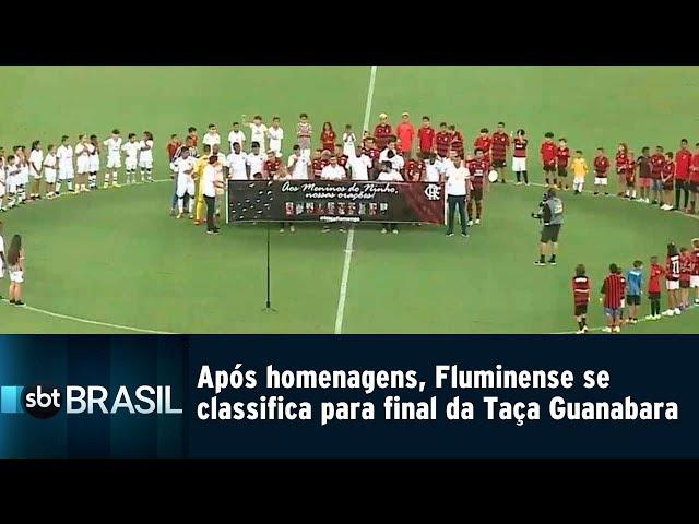 Após homenagens, Fluminense conquista vaga na final da Taça Guanabara | SBT Brasil (15/02/19)