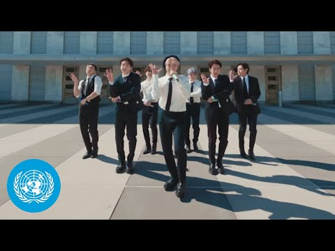 """BTS - """"Permission to Dance"""" performed at the United Nations General Assembly 