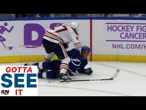 GOTTA SEE IT: Milan Lucic Punches Rookie Mathieu Joseph In The Head After Hit