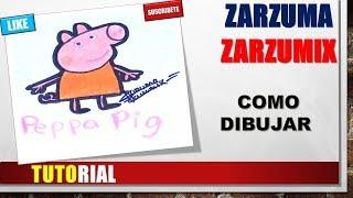 TUTORIAL COMO DIBUJAR A PEPPA PIG PASO A PASO FACIL