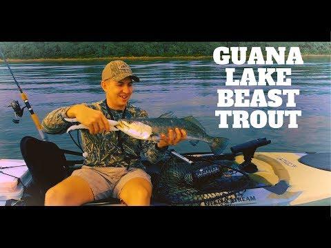 Fishing Florida. GUANA LAKE. BEAST TROUT Kayak Fishing Jacksonville Florida INSHORE!