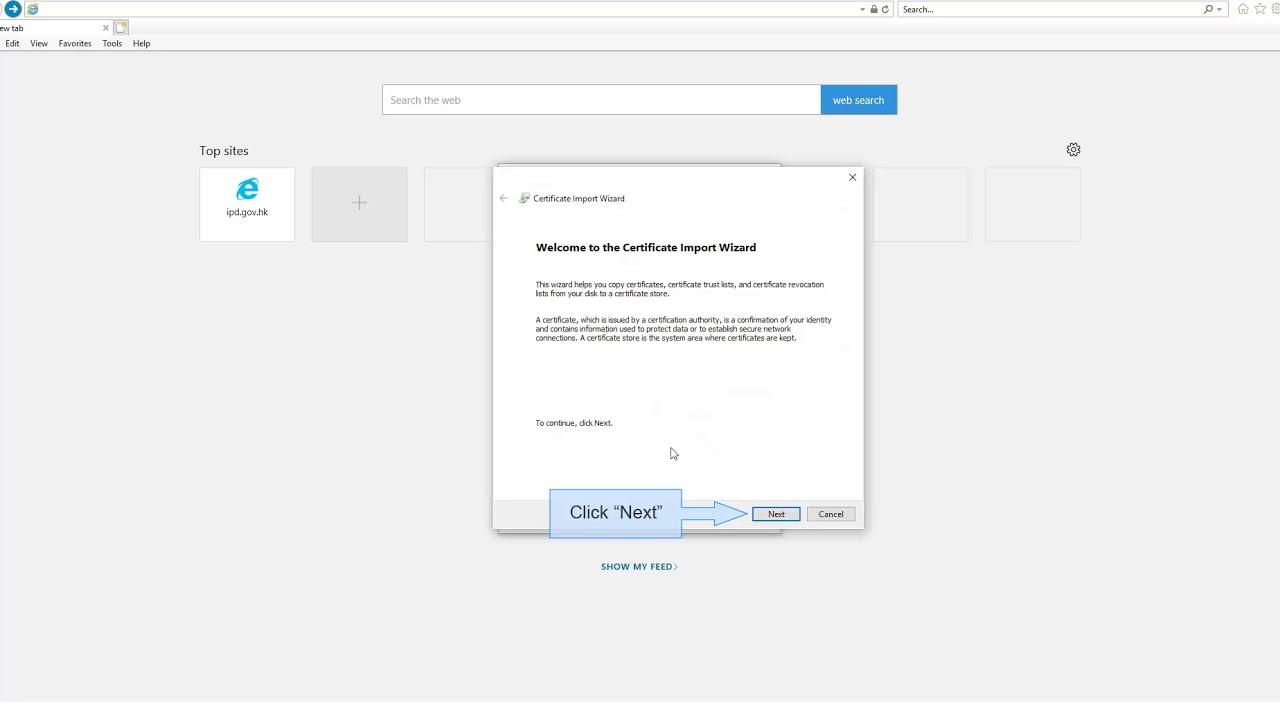 How to Install Electronic Certificate - Microsoft Internet Explorer /  Microsoft Edge