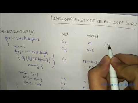 Time Complexity of Selection Sort Algorithm