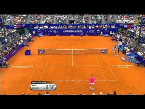 Rafael Nadal VS Juan Monaco   ATP Buenos Aires 2015 Final