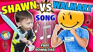 BABY SHAWN vs  WALMART! Kids Rap Song  Touch & Rhyme  Challenge FUNnel Vision Music Video Vlog
