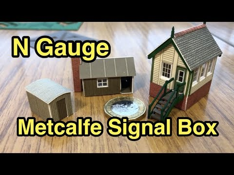 N Gauge Metcalfe Buildings Signal Box Kit