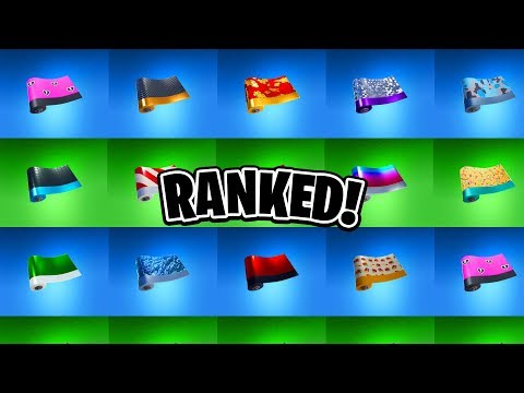 RANKING ALL 14 WRAPS IN FORTNITE! (Fortnite Weapon Wraps/Skins Ranked)
