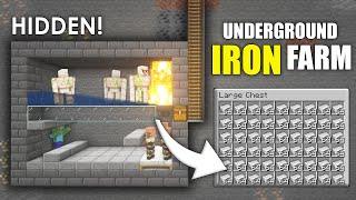 Minecraft EASY Underground IRON FARM Hidden | Minecraft Tutorial 1.16.5