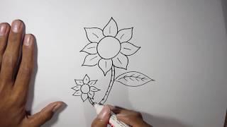 Cara Menggambar Bunga untuk pemula