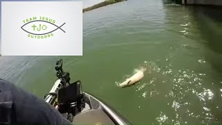 Epic Sturgeon Battle on Perch Tackle, while Jigging the Detroit River for Walleye 2019