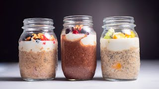 Overnight Oats 3 Ways | Easy and Healthy Breakfasts