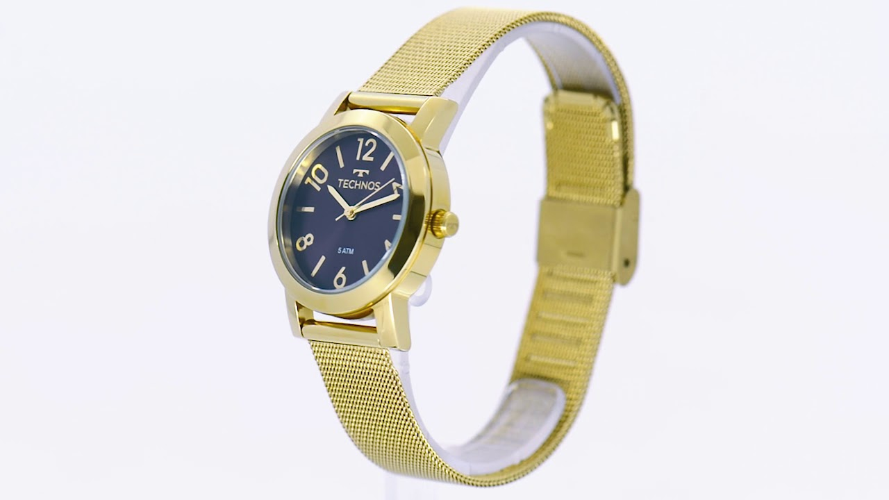 aad52990cce39 Relógio Technos Feminino Elegance Boutique 2035MLP 4N - Eclock - YouTube