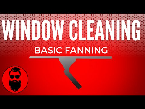 How To Clean Windows Professionally - Fanning Techinque