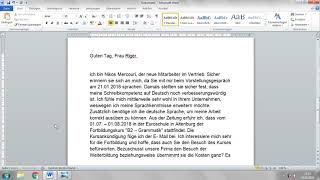 Ein Brief Schreiben Auf Deutsch