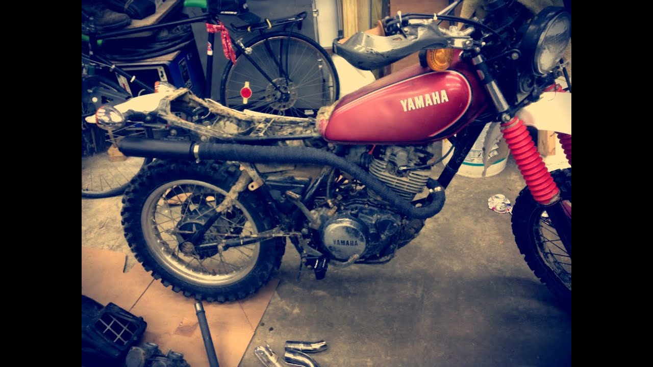 xt250 custom exhaust
