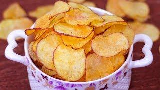 ঝটপট বানিয়ে নিন ক্রিস্পি পোটেটো চিপস | Make Crispy Potato Chips | Instant Potato Chips Recipe Bangla