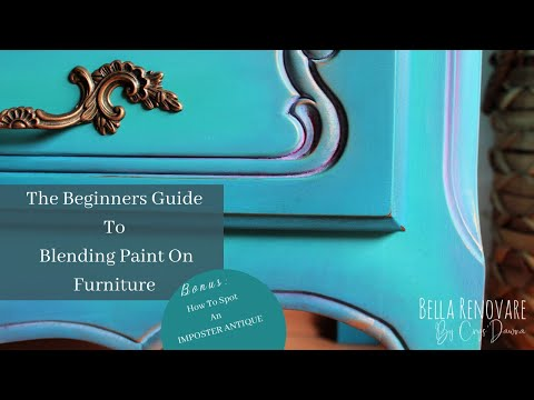 A Beginners Guide To Blend Paint on Furniture | Spot Imposter Antique Furniture W/ Bella Renovare
