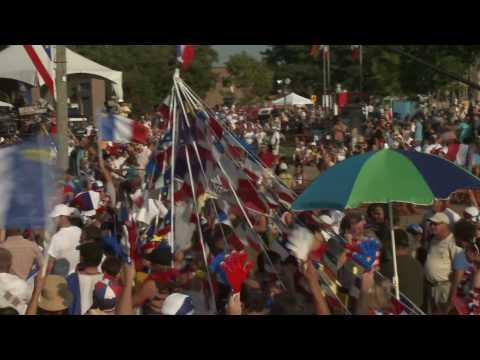 Acadian Festival in Caraquet  New Brunswick, Canada