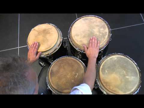 Bembé on 2 and 4 drums