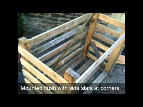 how to make a log store out of pallets