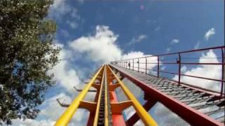 Goliath Roller Coaster POV Front Seat On-Ride B&M La Ronde Montreal Canada HD 1080p