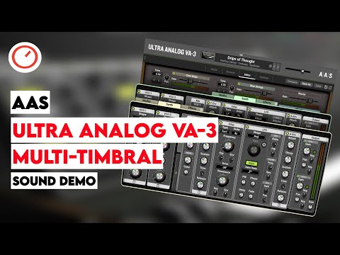AAS Ultra Analog VA-3 Synthesizer Multi-Timbral Sound Demo