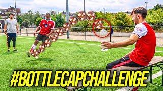BOTTLE CAP TRICKSHOT FUßBALL CHALLENGE